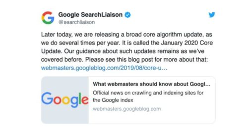 Google Core Update Januar 2020